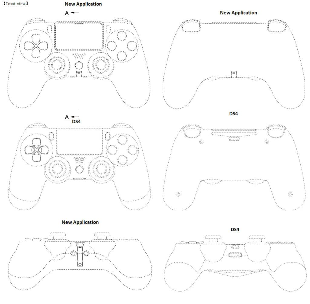Sony PS5 rumoured controller - All angles