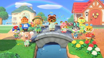 nintendo switch animal crossing new horizons flaming