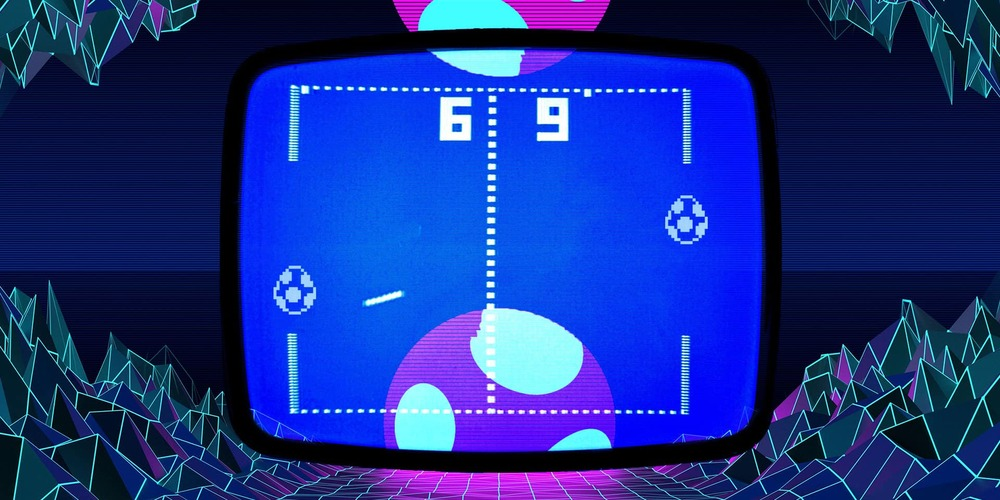 pong game retro easter egg art background